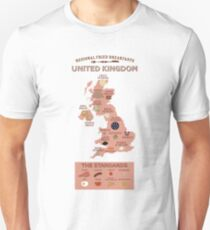 Regional Fried Breakfasts of the United Kingdom Unisex T-Shirt