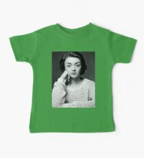 Maisie Williams Black & White Baby Tee
