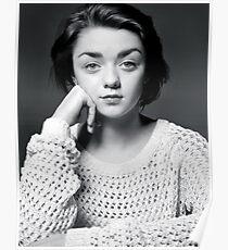 Maisie Williams Black & White Poster