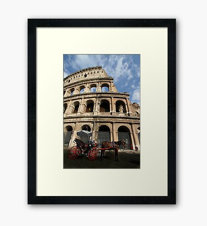 Horse and Carriage - Rome Framed Print