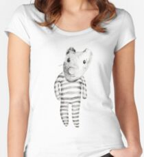 A toy named Jean Claude Women's Fitted Scoop T-Shirt