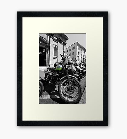 Mopeds and Motorbikes - Italy Framed Print