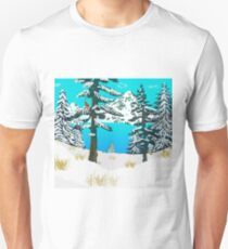 Winter Cardinal Unisex T-Shirt