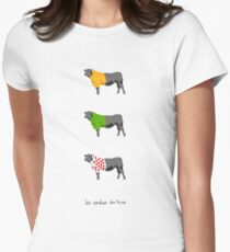 Les Vaches du Tour Womens Fitted T-Shirt