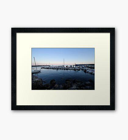 Boats in Amalfi Framed Print