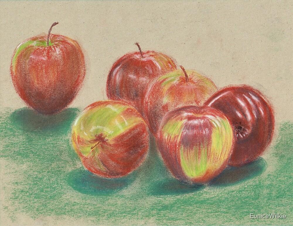 Apples - Coasters & Blocks by EuniceWilkie