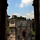 Arch of Constantine - as seen from the Colosseum - Rome by Samantha Higgs