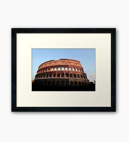 Colosseum at Sunset Framed Print