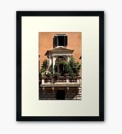 Balcony Garden - Italy Framed Print