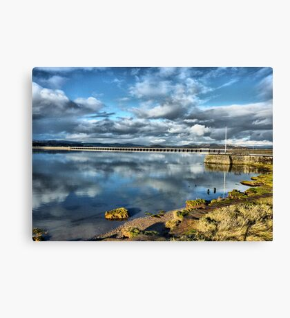 Kent Viaduct and Arnside Pier Canvas Print