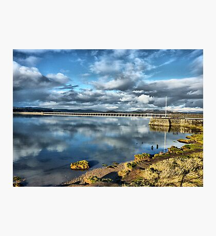 Kent Viaduct and Arnside Pier Photographic Print