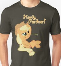 Howdy, Pardner! with Text Unisex T-Shirt