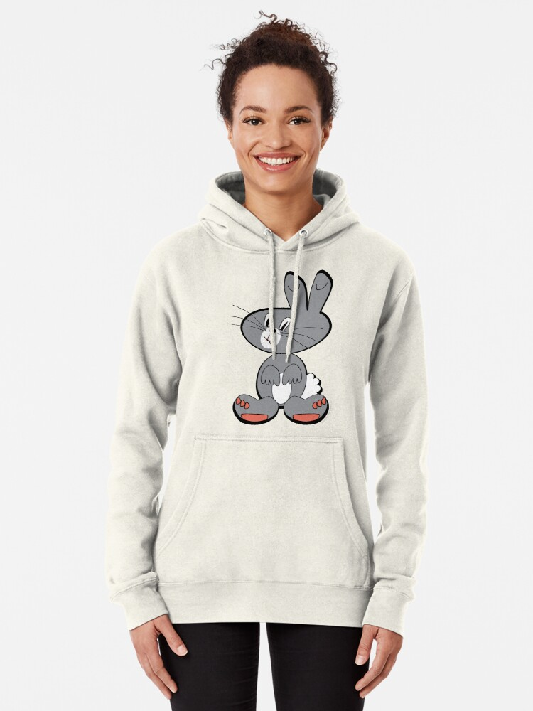 Alternate view of Fuku the Bunny Pullover Hoodie