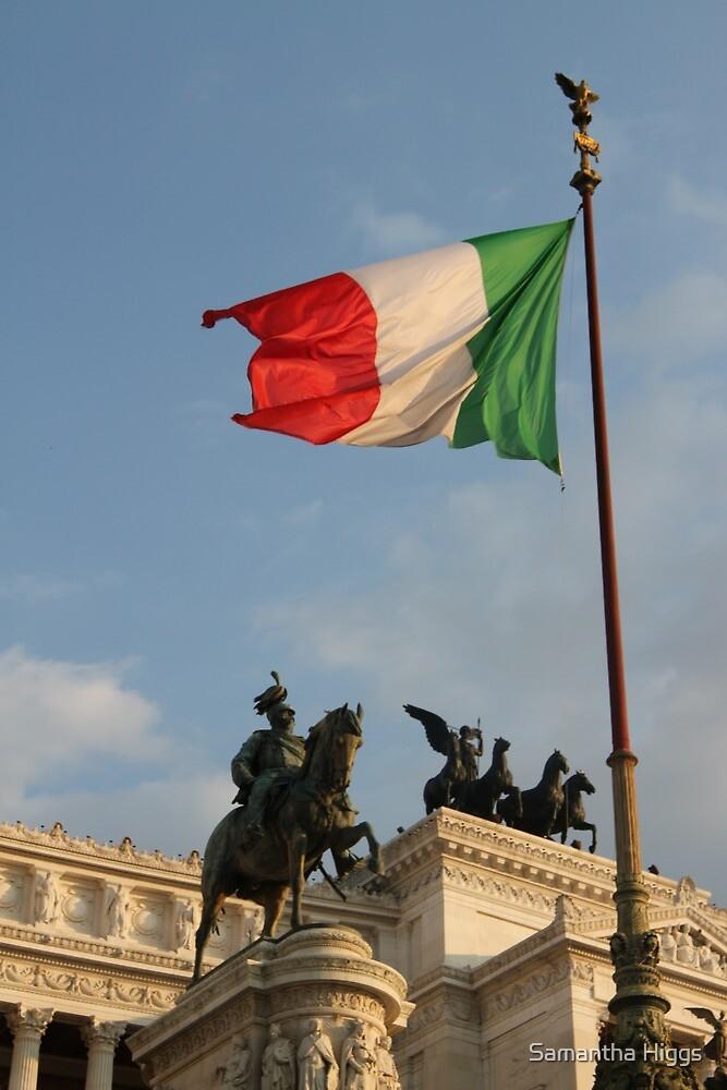 Italian Flag on Il Vittoriano by Samantha Higgs
