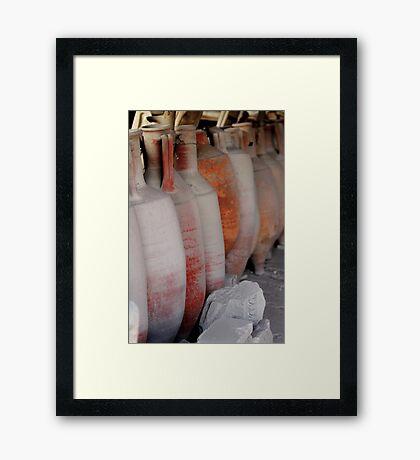 Amphorae - Pompeii Framed Print