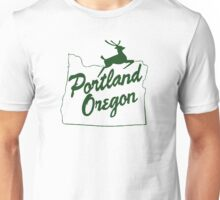 Portland Oregon Sign in Green Unisex T-Shirt