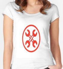 Wrench Cross Women's Fitted Scoop T-Shirt