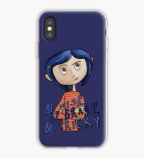 Vinilo o funda para iPhone Coraline