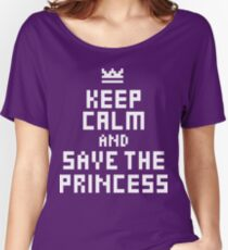 Keep Calm and Save the Princess Women's Relaxed Fit T-Shirt