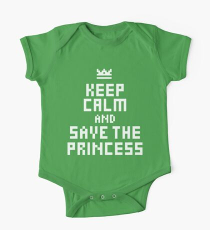 Keep Calm and Save the Princess Kids Clothes