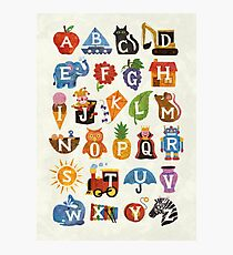 Alphabet  Photographic Print