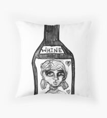 whine Throw Pillow