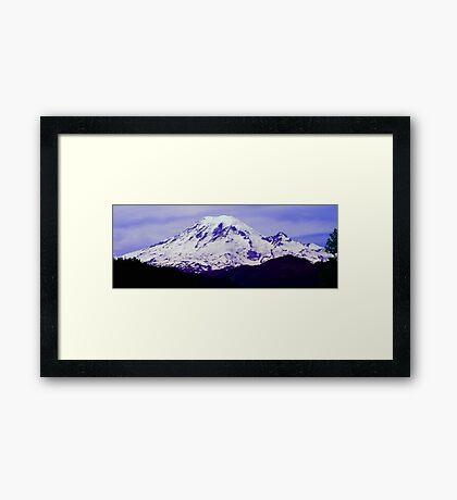 Mt. Rainier Panoramic in HDR Framed Print