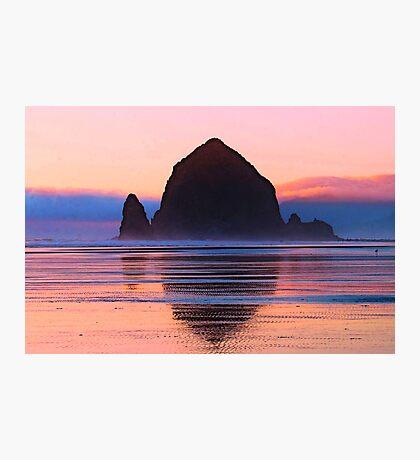 Summer Sunset at Haystack Rock Photographic Print
