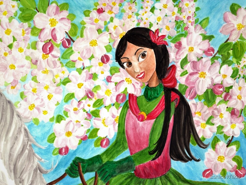 Princess Precious - In the Spring - Bedding & Blankets by EuniceWilkie