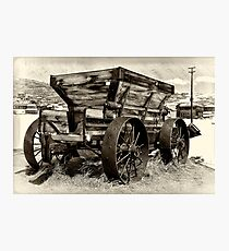 Minning Wagon Photographic Print