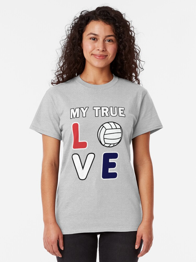 Alternate view of Volleyball Lover, Teen girls player funny Gift. Classic T-Shirt
