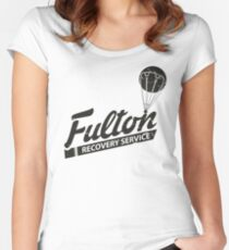 Fulton Recovery Service - Damaged Women's Fitted Scoop T-Shirt