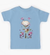 Little Green Teapot TShirt by Karin Taylor Kids Tee
