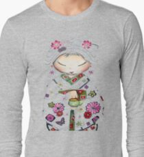Little Green Teapot TShirt by Karin Taylor Long Sleeve T-Shirt
