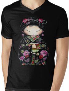 Little Green Teapot TShirt by Karin Taylor Mens V-Neck T-Shirt