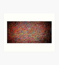 Abstract Jackson Pollock Painting Original Art Titled: Clear Lines Art Print