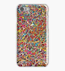 Abstract Jackson Pollock Painting Original Art Titled: Move It iPhone Case/Skin
