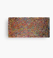 Abstract Jackson Pollock Painting Original Art Titled: Move It Canvas Print