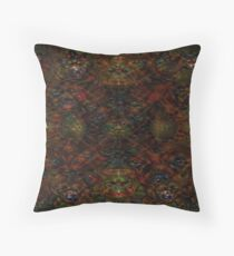 Digital Design Colorful Abstract Red Black Art Throw Pillow