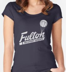 Fulton Recovery Service - White - Damaged Women's Fitted Scoop T-Shirt