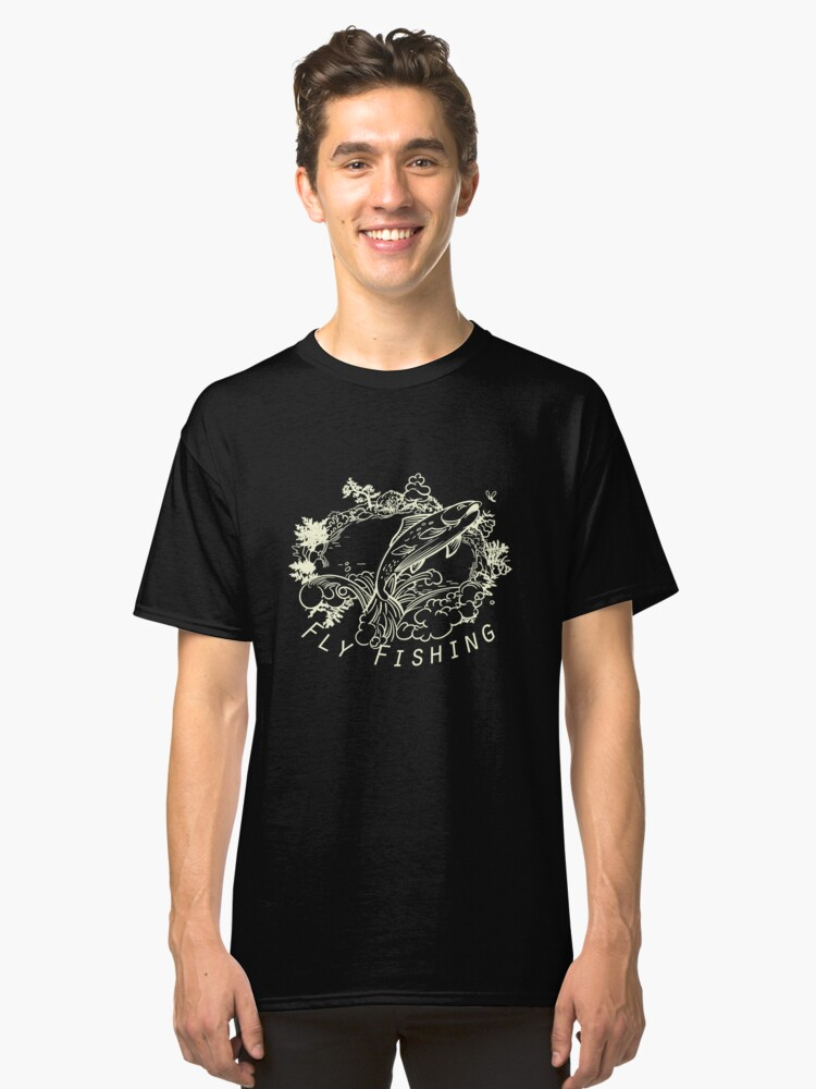 Alternate view of Flyfishing Dark Classic T-Shirt