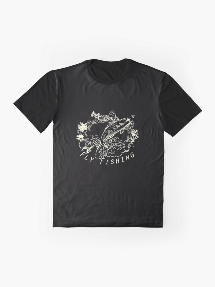 Alternate view of Flyfishing Dark Graphic T-Shirt
