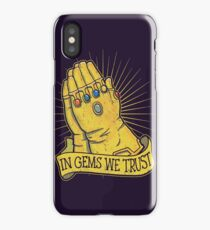 In Gems We Trust iPhone Case