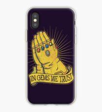 In Gems We Trust iPhone Case