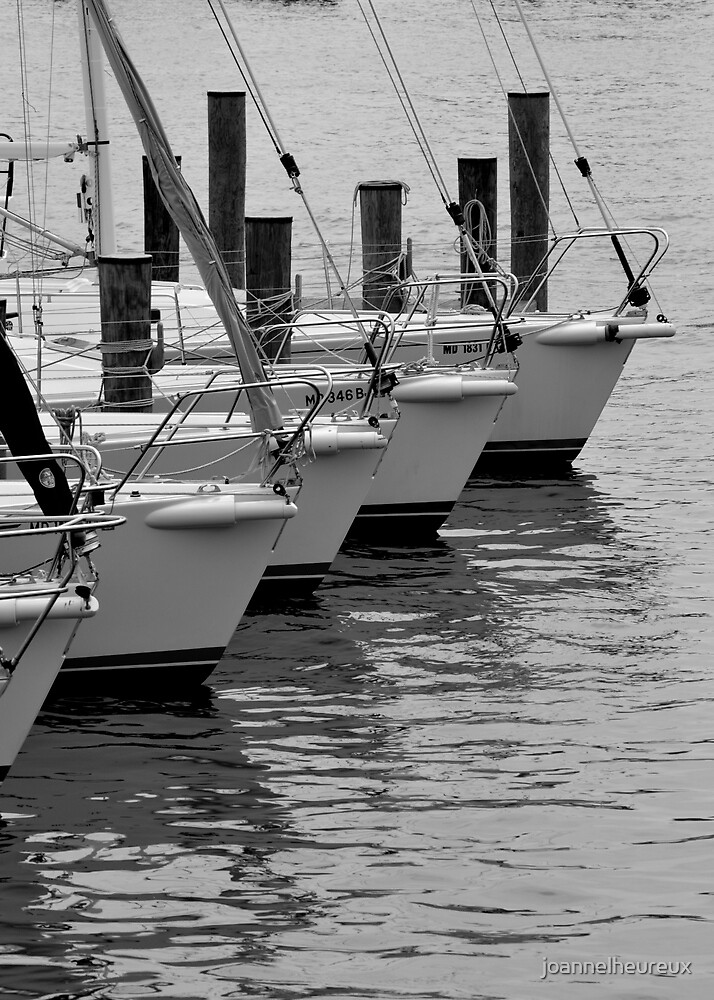 Boats in a row - Annapolis, Maryland by joannelheureux