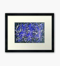 Abstract Jackson Pollock Painting Original Art Titled: Blue Dance Framed Print