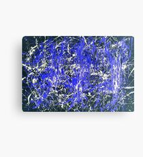 Abstract Jackson Pollock Painting Original Art Titled: Blue Dance Canvas Print