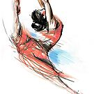Expressive Dancer Ballet Dance Drawing by CatarinaGarcia