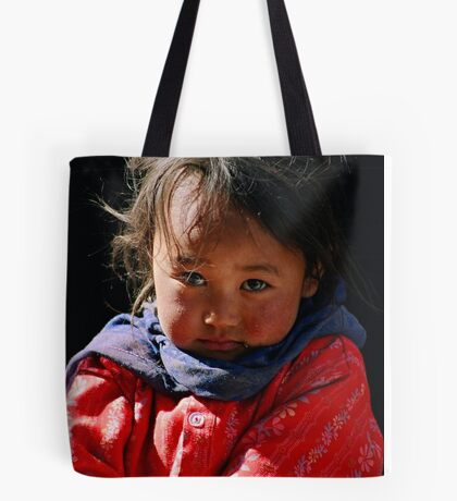 tribal girl. spiti valley, northern india Tote Bag
