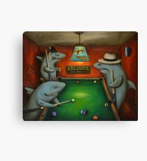Pool Sharks Canvas Print